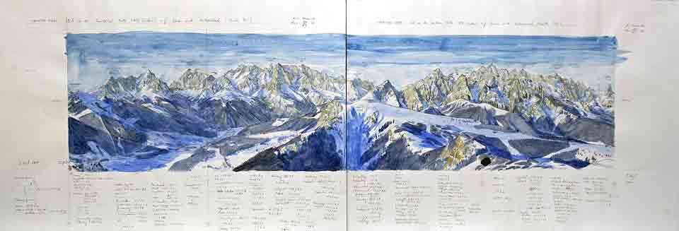 Entwurf Märkische Berge von Osten